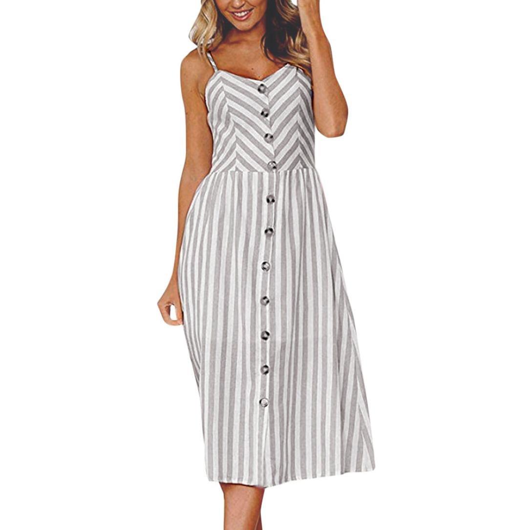 SANFASHION Bekleidung - Vestido - para Mujer Gris X-Large: Amazon.es: Ropa y accesorios