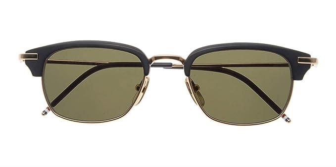 d688151550f3 Amazon.com  THOM BROWNE TB-707-A-T-BLK-GLD-50 Sunglasses  Clothing