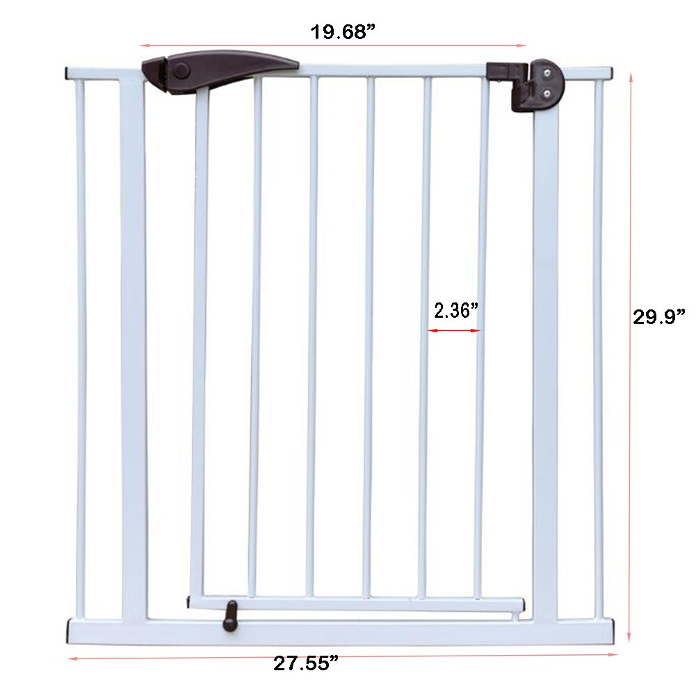 Fairy Baby Pressure Mount Easy Install Walk Thru Gate,Fit Spaces 68.9''-72.4'' Wide,29.9'' High by Fairy Baby (Image #4)
