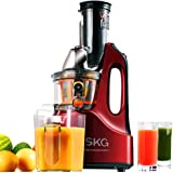 "SKG Wide Chute Anti-Oxidation Slow Masticating Juicer (240W AC Motor, 60 RPMs, 3"" Large Mouth) - Vertical Masticating Cold Press Juicer - Fruit and Vegetable Juice Extractor"