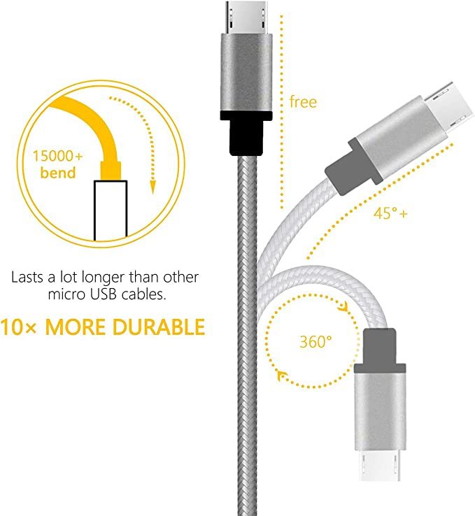 0.25m Short 12 m long Micro USB fast charger Cable For