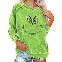 JTLB Feliz Navidad Sudadera, Árbol de Navidad Pullover Camisa Ligera Mujer Cómo el G-rinch Robó la Navidad Sudadera con…
