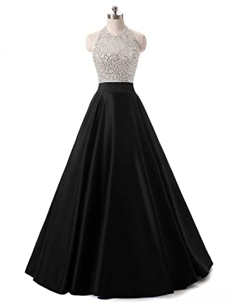 Amazon Heimo Womens Beaded Evening Party Gowns Sequined Formal