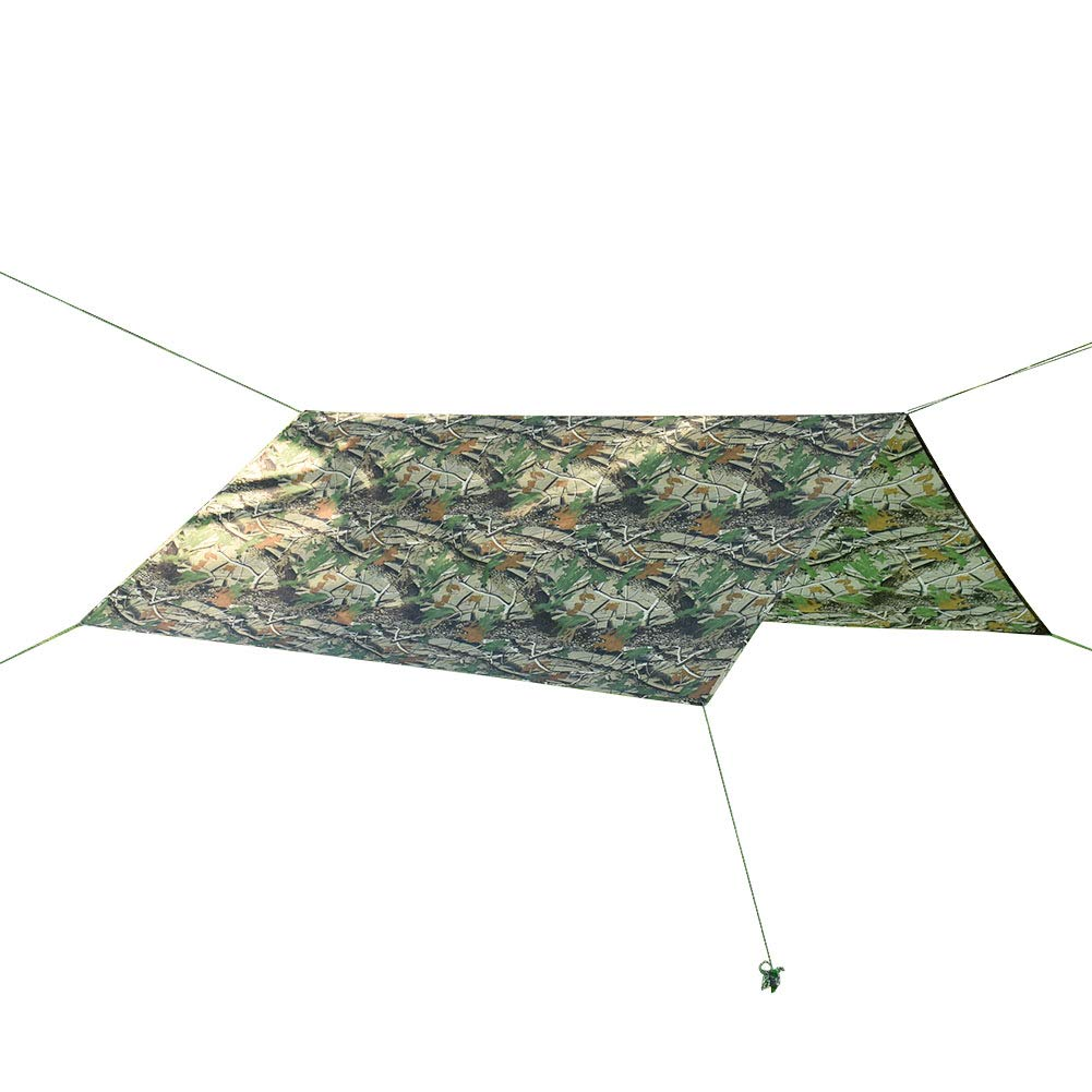HYOUT 10x10 Waterproof Hammock Rain Fly,Lightweight Camo Tent Tarp Shelter for Picnic Camping Hiking Fishing with Drawstring Carrying Bag by HYOUT