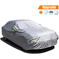 Universal Aluminum Waterproof Seamless Sunshade Car Cover Half Covers Protection for Saloon, Hatchback, SUV