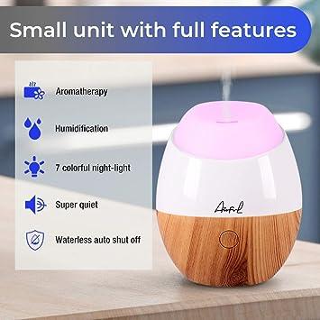 Amarillo Mini purificador del Aire del difusor del Aceite del humectador del Aroma de la Carga por USB con el del Color del LED Riuty Difusor del Aceite Esencial