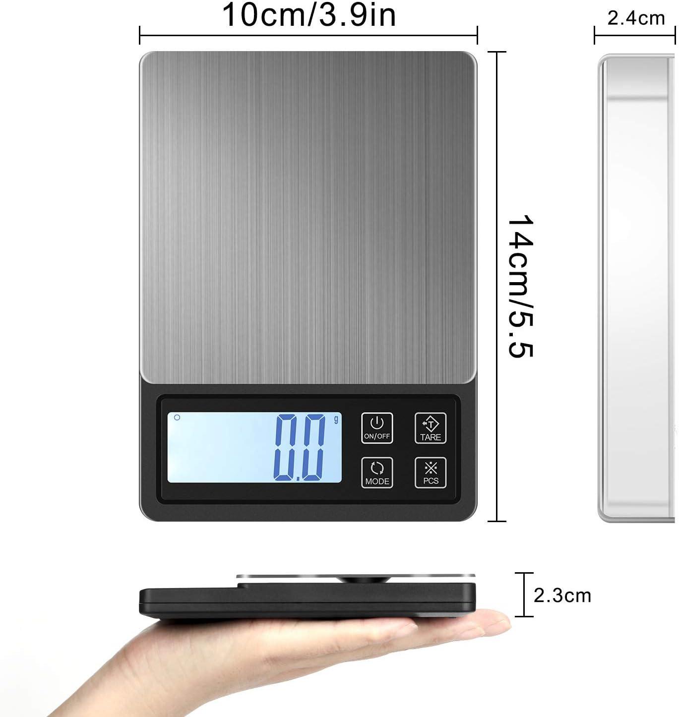 0,01 Gramm Die neue USB-Plug-in Goldschmuck tragbare LED digitale elektronische Waage Waage Taschenwaage Leder Geschenk Schutzh/ülle,100 Gramm