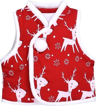 FELZ Disfraz Navidad Bebe Niña Niño Invierno Chaqueta De Navidad ...