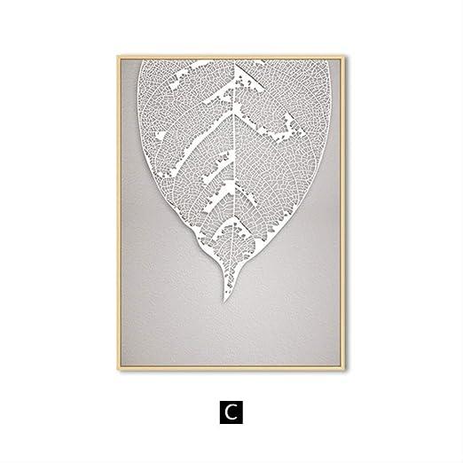 RF1996 Rose Gold Leaf Wall Art Cartel de Lienzo e impresión ...