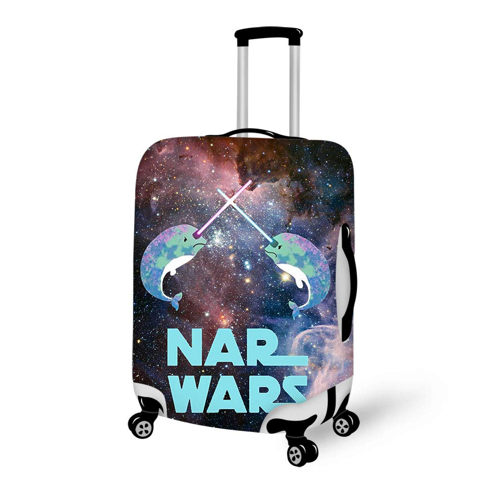 Luggage Cover Starry Sky Narwhal Nar Wars Galaxy Protective Travel Trunk Case Elastic Luggage Suitcase Protector Cover