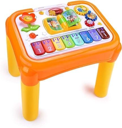 Cajas de música Mesa de juegos de aprendizaje para niños Mesa multifuncional de juguetes de educación temprana Mesa de juguetes de música para niños Juguetes educativos interactivos entre padres y niñ: Amazon.es:
