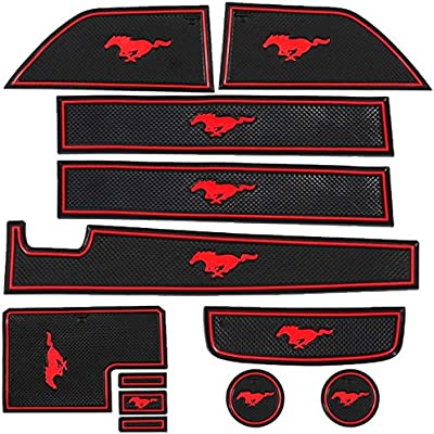 JDL Autoworks 15-18 Ford Mustang Red Trim Liner ...