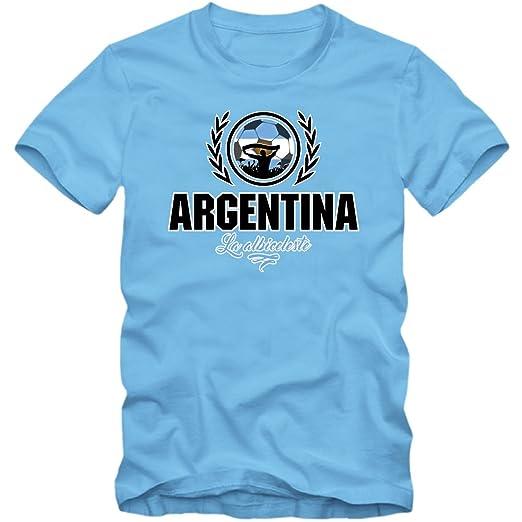 Fútbol Argentina V2 Camiseta | Hombre | Fútbol | La Albiceleste | Jersey | Equipo Nacional: Amazon.es: Ropa y accesorios