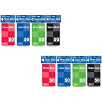 Bazic Top Bound Spiral Memo Books, 3-Inch-by-5-Inch, 50 Sheets Per Book, Total 8 Memo Books