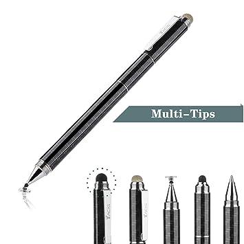 10X 2 in1 Stylus Touch Screen Pen Universal Pen/& Ballpoint Writing Pen Metal Pen