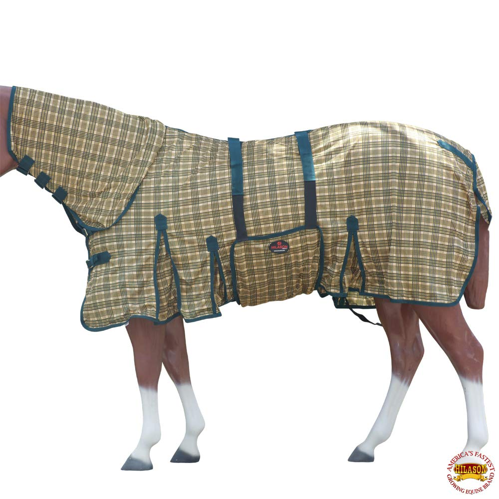 HILASON 72 Inches Horse Fly Sheet Uv Protect Mesh Bug Mosquito Summer Spring by HILASON