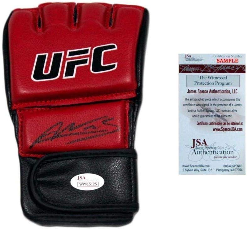 Amanda Nunes Autographed Signed Ufc Glove Jsa 2 Weight Division Champion Autographed Ufc Gloves At Amazon S Sports Collectibles Store