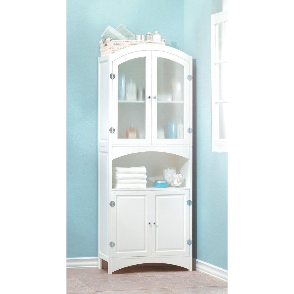 Narrow Linen Cabinet Amazoncom Wood Linen Cabinet Home Kitchen