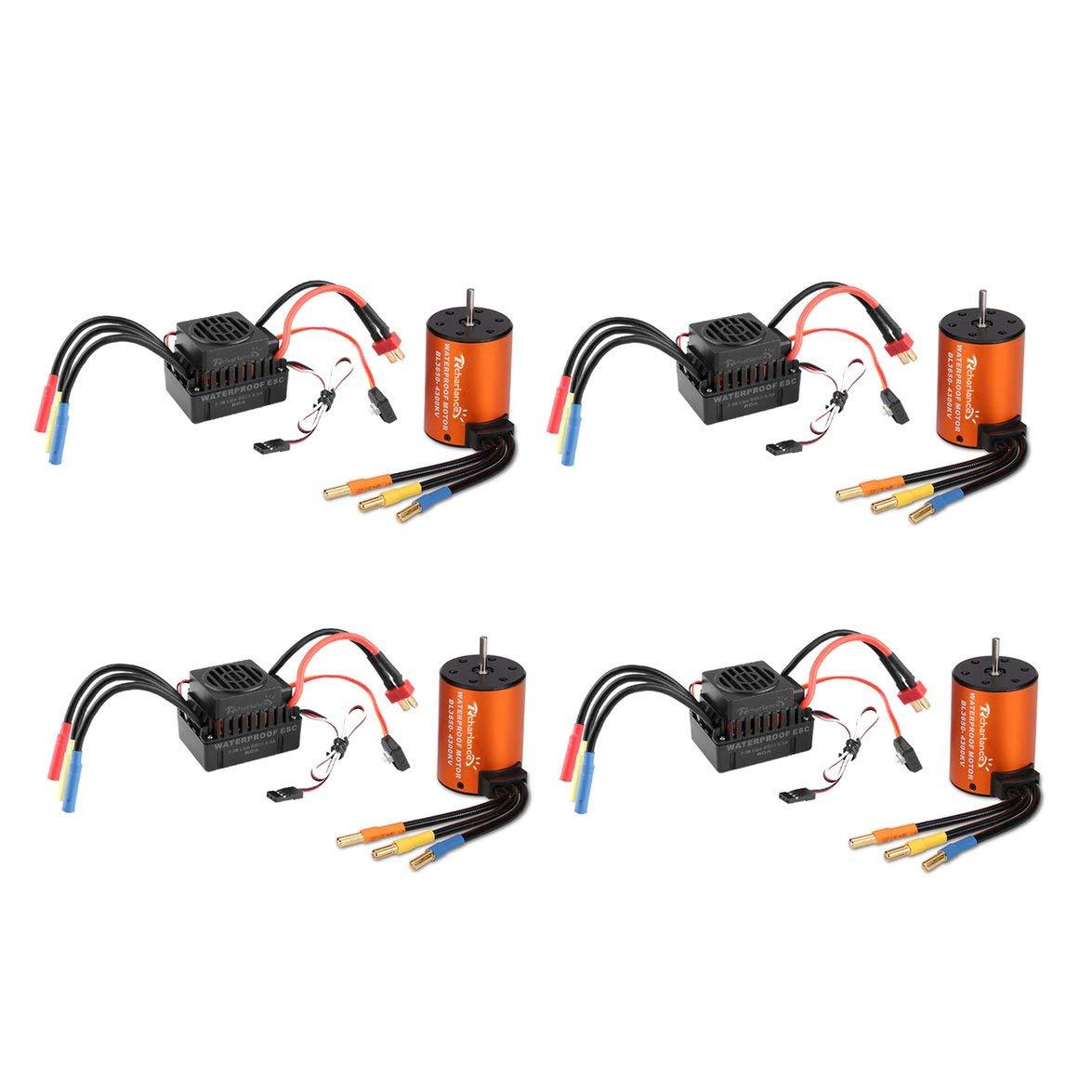 Intercorey 4PCS EmaxホークバズFS2306 6S 1700KVブラシレスモーター用EmaxホークバズRCドローンFPVレーシングカーロボットRCモーター B07SGDFR1H