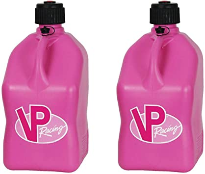 Pink Quantity of 2 VP Racing Fuels Motorsport Square Container w// Hose