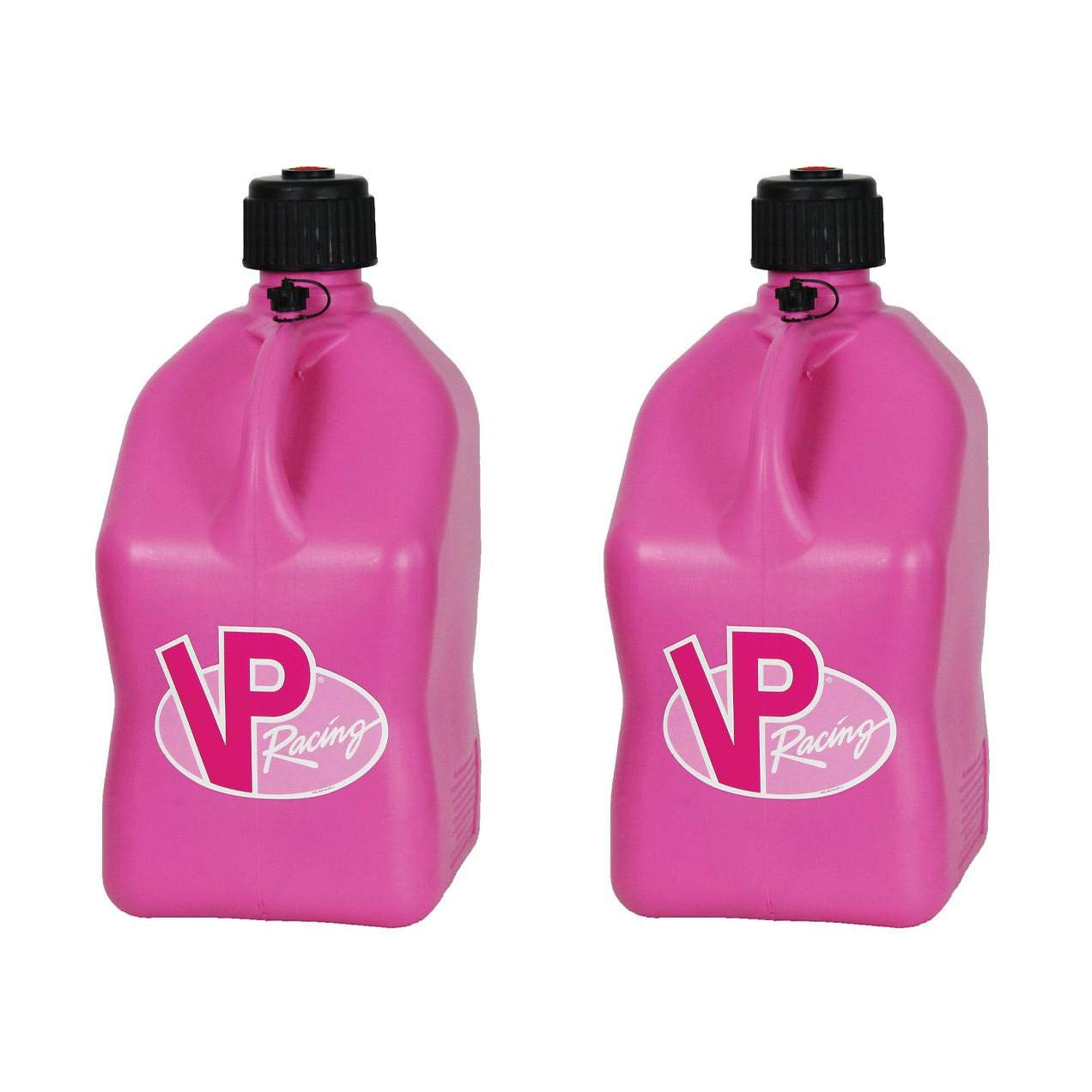 2 Pack VP 5 Gallon Square Pink Racing Utility Jugs by VP Fuels