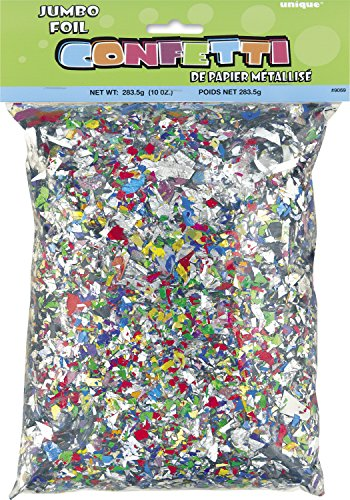 Jumbo Bag of Foil Confetti, 10oz (Shiny Confetti)
