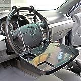 Felimoa 車 折り畳み テーブル 運転席 ハンドル 後部座席 食事 PC 作業 自動車 シート カーシート 台