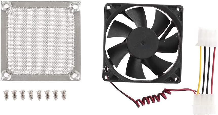 Festnight 4 pin Computer Case Cooling Fan Cooler PC Case Fast Heat Dissipation Low Noise 9cm
