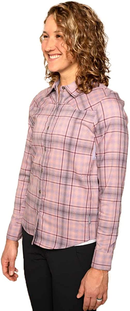 Club Ride Apparel Liv/'n Flannel Womens Flannel Long Sleeve Cycling Jersey