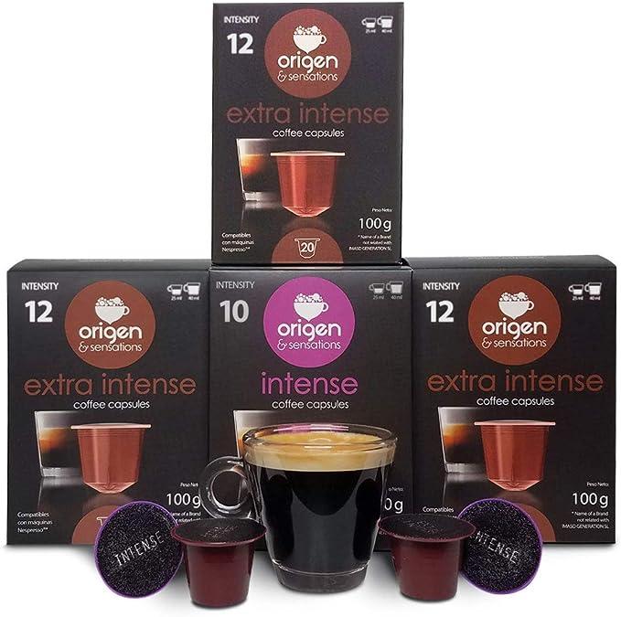 80 Cápsulas Nespresso Compatibles con Cafetera Nespresso - 60 ...