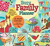 Busy Family Planner 2020 Calendar Planner Organizer with Magnetic Hanger, Storage Pocket and Stickers: 18-Month: July 2019 - December 2020