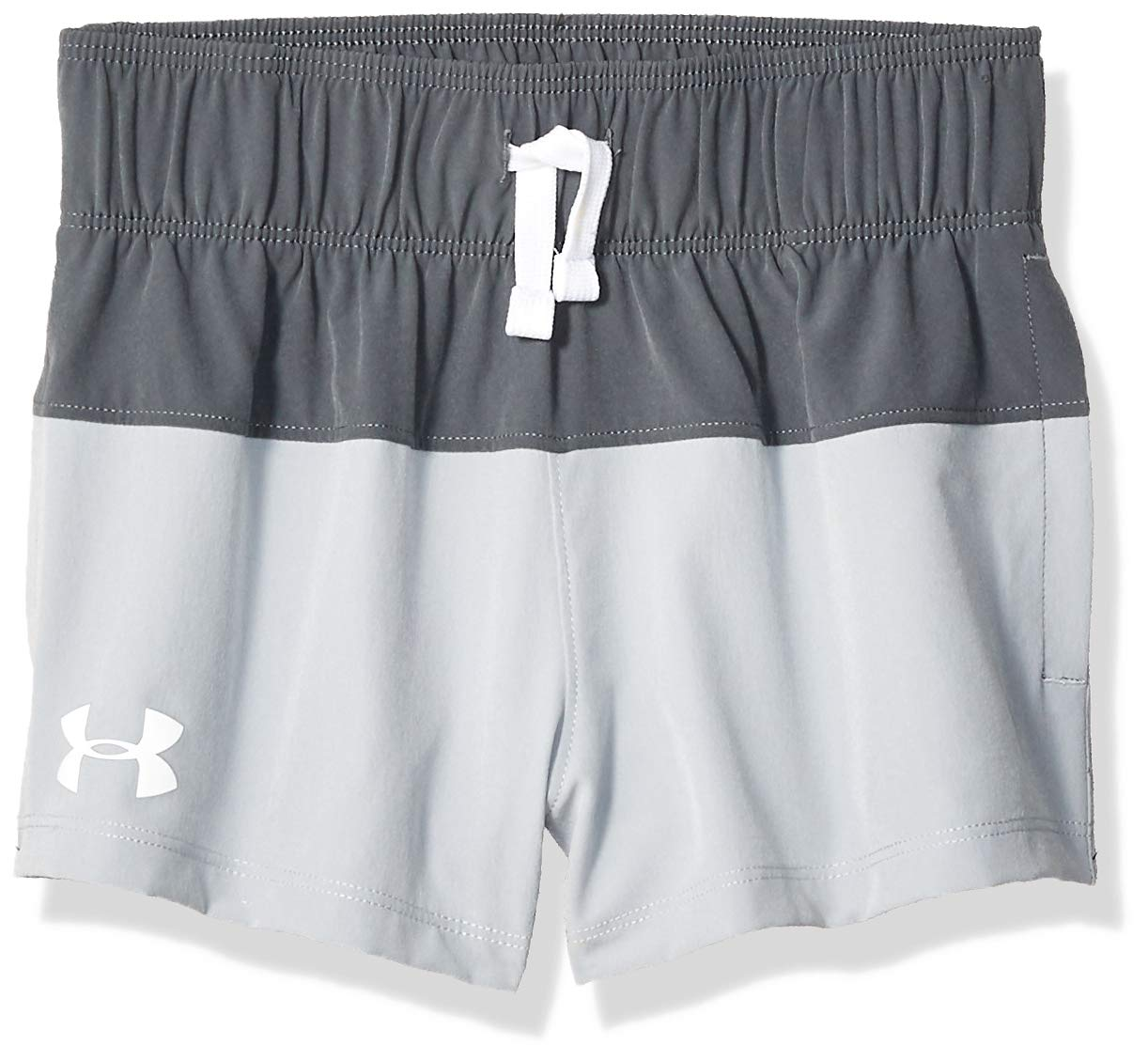 Under Armour Girls' Splash Board Shorty, Pitch Gray//White, Youth X-Large by Under Armour