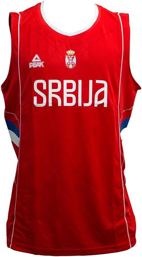 PEAK Camiseta de Baloncesto Selección de Serbia Roja (L): Amazon ...