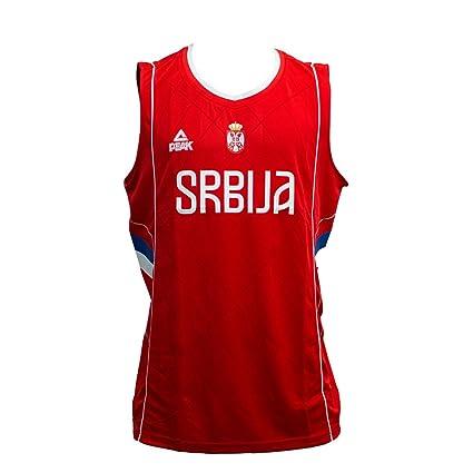 PEAK Camiseta de Baloncesto Selección de Serbia Roja (S): Amazon ...