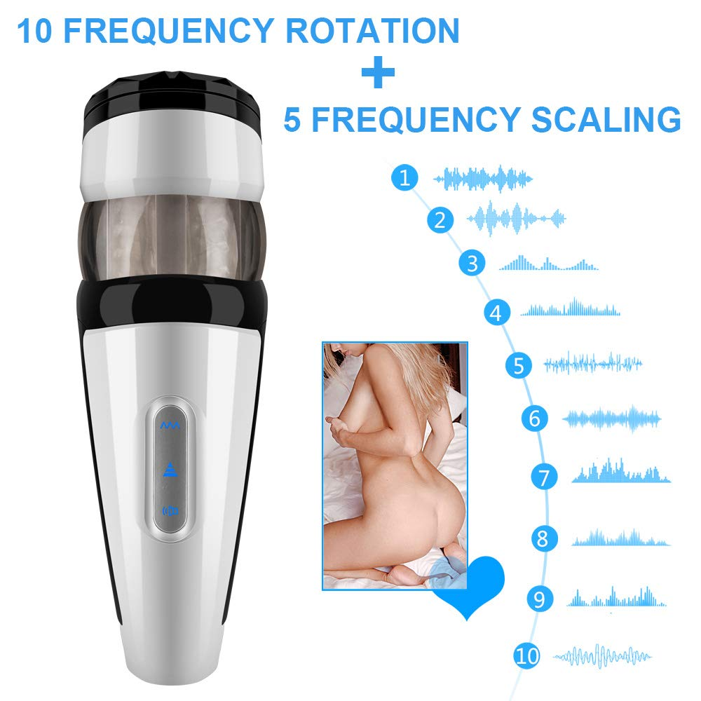 Rotating with Voice Massage Massager and Sucking Telescopic Toy Interaction Cup for Men Powerful Electric by Ouwei foreign