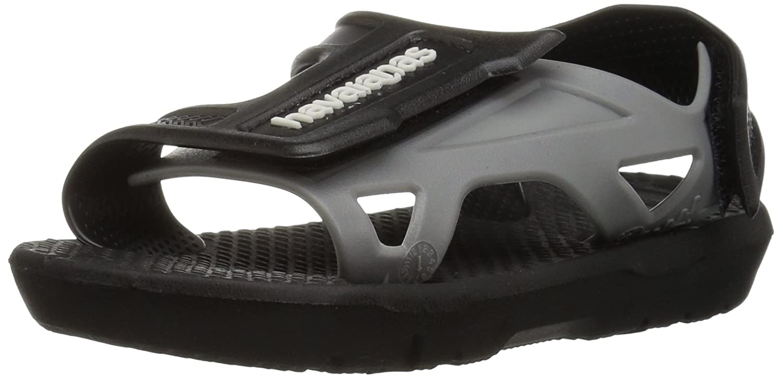 Havaianas Kids Move Sandal (Toddler/Little Kid) Black 25/26 BR (10 M US Toddler) 4140441-0090-256