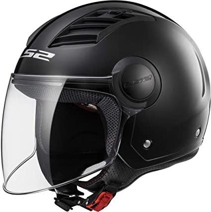 LS2 Casco para moto OF562 Airflow, color Matt Black Long, XXS