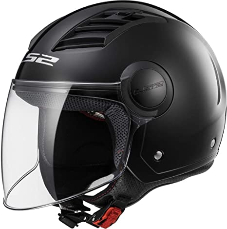 2323b360537da CASCO JET ECONOMICO LS2 AIRFLOW NERO OPACO TAGLIA S  Amazon.it  Auto ...