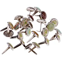 Perfeclan 50pcs 9.5mm Colorido Mini Brads Scrapbooking Embellecimiento