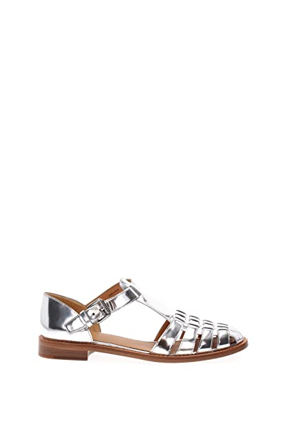 43f331bfe86 Image Unavailable. Image not available for. Color  Church s Kelsey Silver  Sandals