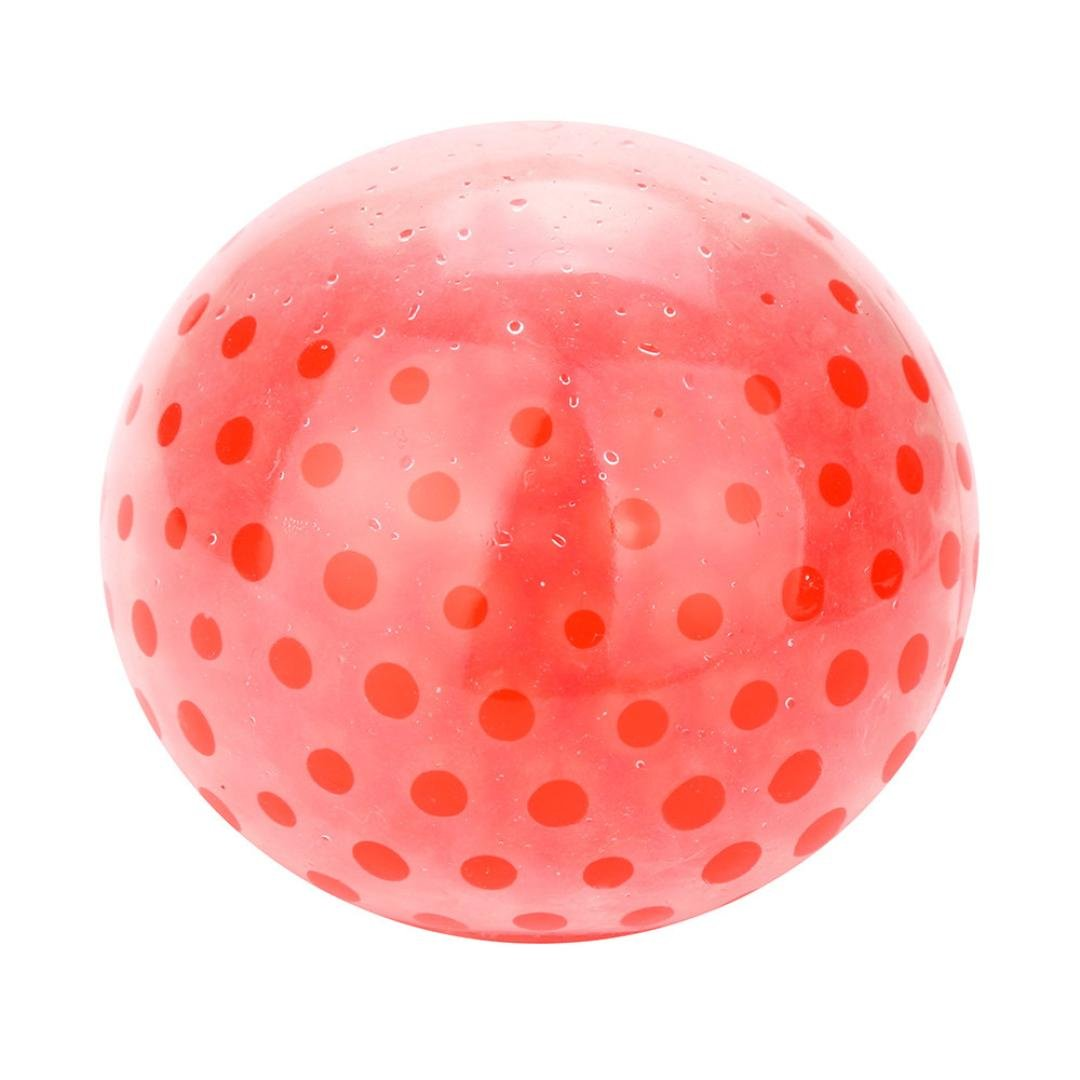 Squishy Stress Relief Balls, SUKEQ Amazing Spongy Bead Stress Ball Toy Squeezable Stress Relief Ball/Squishy Toy/Squeeze Ball/make stress ball/Bead Gel Stress Ball (Red)