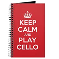 CafePress - Keep Calm Play Cello Journal - Spiral Bound Journal Notebook, Personal Diary, Lined