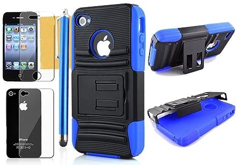 47cf8ee692b OMIU (TM Hybrid Alterable función Atril – Carcasa rígida para iPhone 4 y 4S  (
