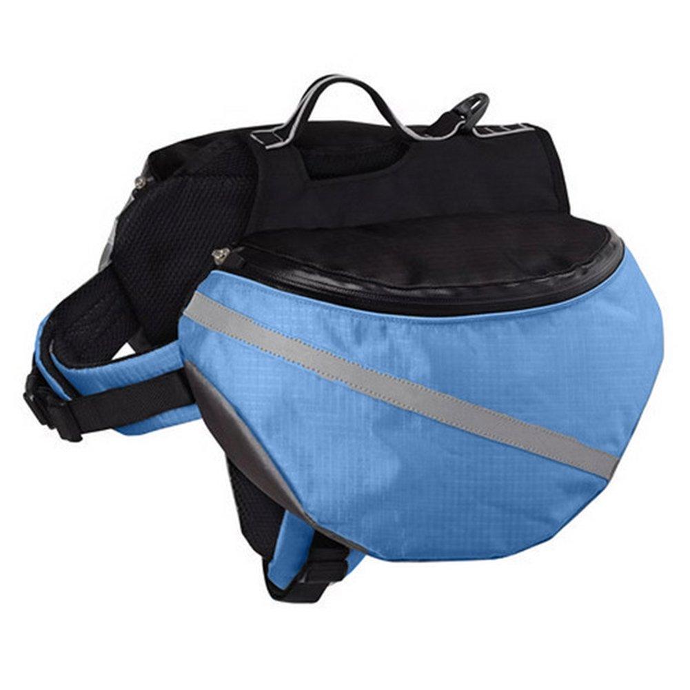 Braceus Saddle Bag Dog Backpack Adjustable Pet Carrier Hiking Camping Vest with Pockets for Medium and Large dogs Outdoor