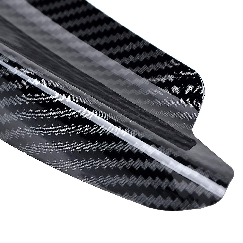 measure your car 4PCS Universal Fit Carbon Fiber Painted Car//Auto Front Bumper Fins Canard