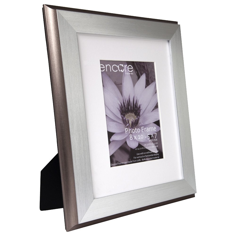 Amazon.com - 8x10 Brushed Silver Plateau Photo Frame - Single Frames