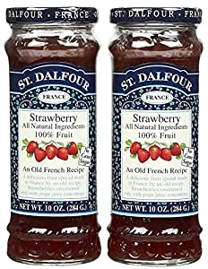 St. Dalfour Strawberry Conserves - 10 oz - 2 pk