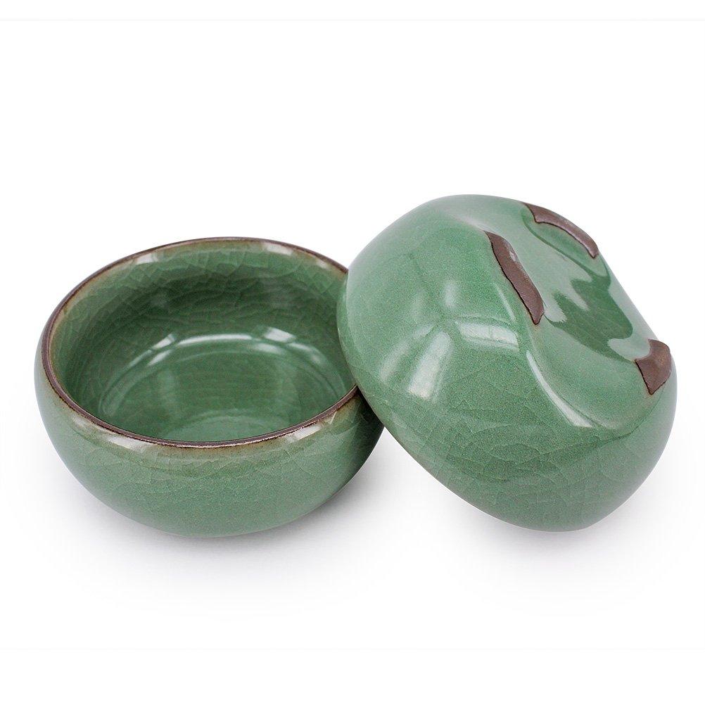 ZHAMS Kungfu Teacup,Chinese Long-quan Celadon Teacup,Tea Set, Different Colors, Set of 4 by ZHAMS (Image #5)