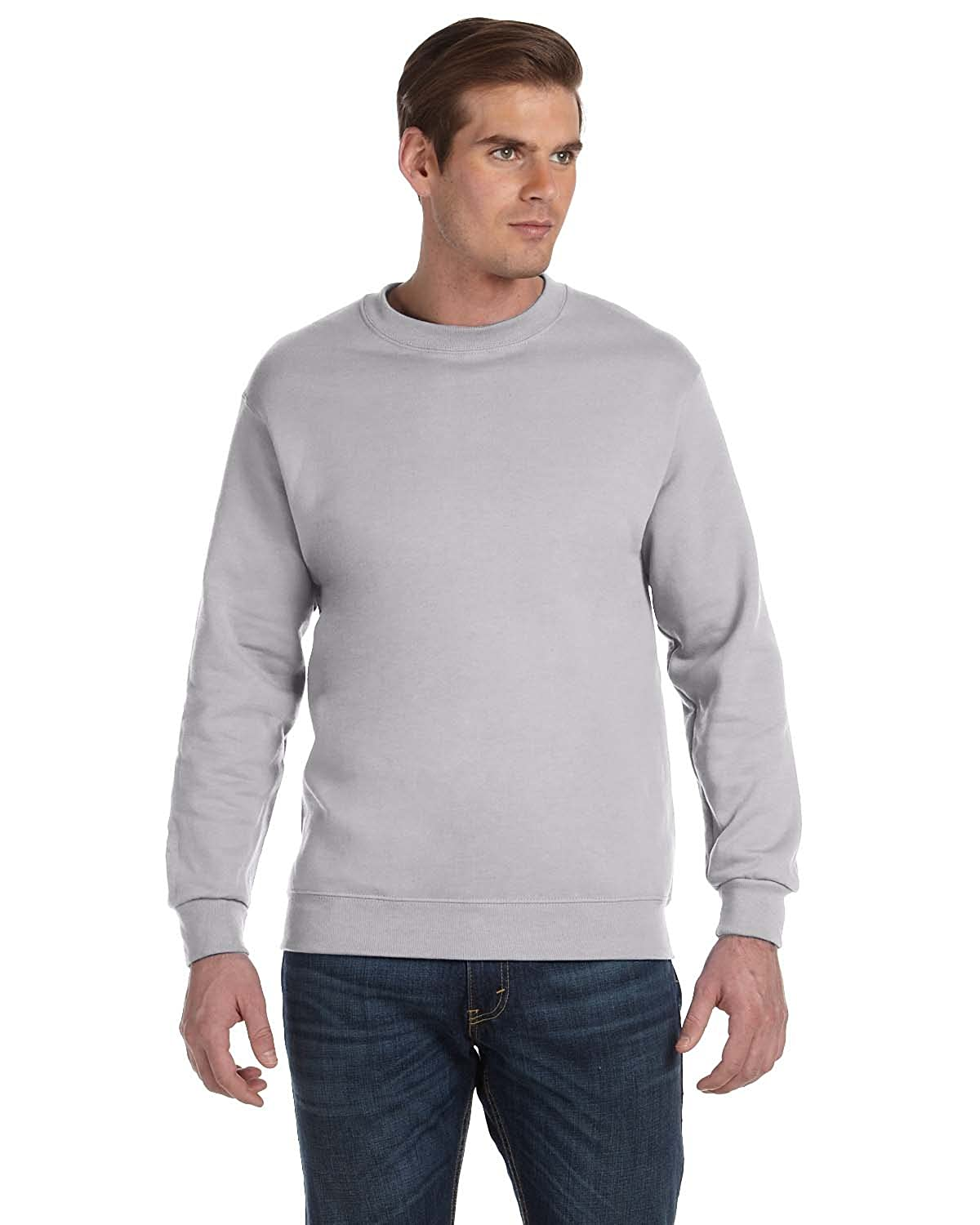 -Sport Grey -L-12PK DryBlend? 50//50 Fleece Crew G120 Gildan Mens 9.3 oz