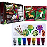 Mont Marte 19-Piece Premium Art Set,Art Supplies for Painting and Drawing, Art Set Contains Poster Paints, Stamps, Rollers, Brushes, Palette,Supersize Colouring Book